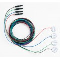 Электроды адгезивные дисковые, кабель 1м,  (4 шт/набор), 15 наборов/уп
