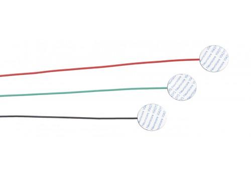 Электрод адгезивный дисковый (красный, черный, зеленый), кабель 1,0 м, (3 шт/набор), 24 набора/уп, артикул 019-414200