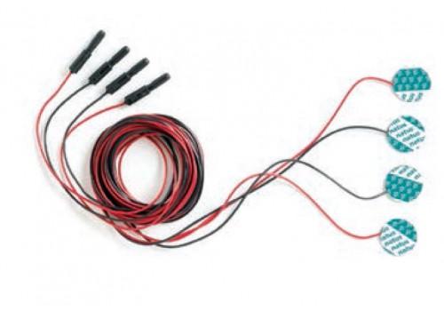 Электроды адгезивные дисковые, кабель 3 м,  (4 шт/набор), 24 набора/уп, артикул 019-420800