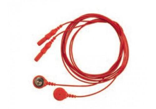 Соединительные кабели для электродов (SNAP, длина 1м, оранжевый) 2 шт./уп.