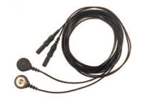 Соединительные кабели для электродов (SNAP, длина 3 м, черный) 2 шт./уп.